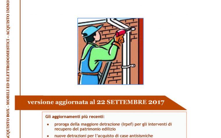 Impresa edile sesta generazione srl for Detrazioni fiscali 2017 agenzia delle entrate